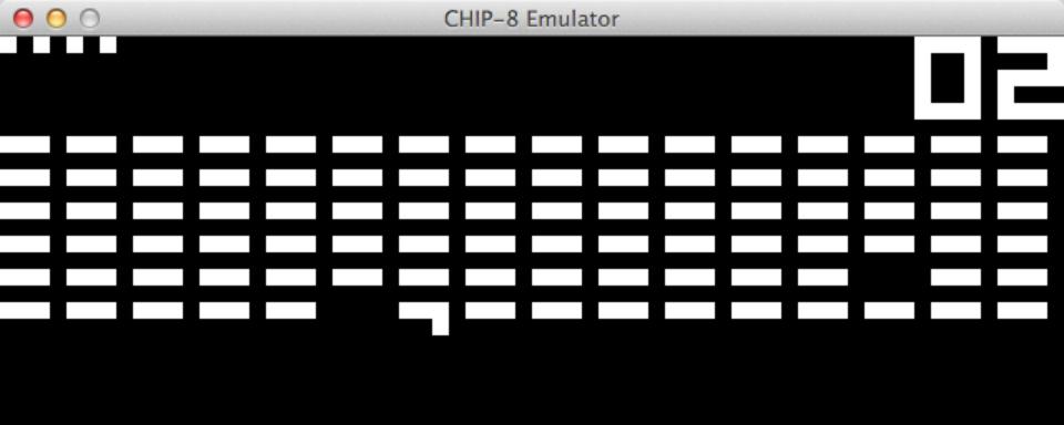 An screenshot taken from the CHIP-8 emulator.